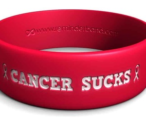 custom rubber bracelets, cancer-sucks-bracelet, and livestrong bands image