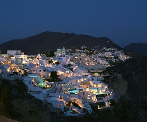 travel, night, and Greece image