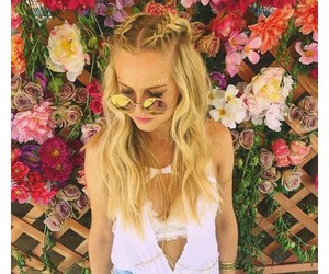 braid, festival, and flowers image
