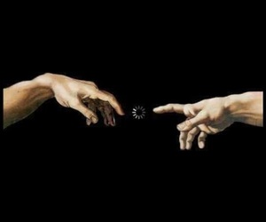 art, hands, and loading image