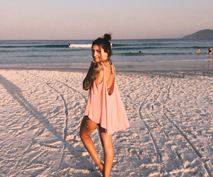 beach, foto, and pink image