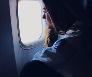 airplane, airplane window, and canada image