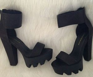black, shoes, and high heels image