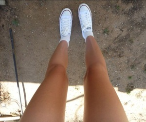 converse, legs, and summer image