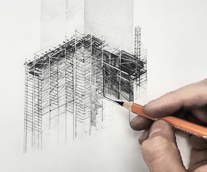 architecture, drawing, and love it image