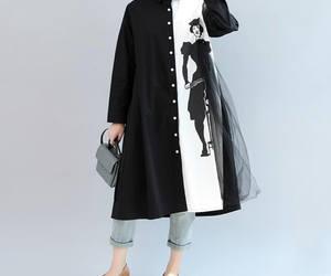 blackdress, loose shirt, and cotton shirt image
