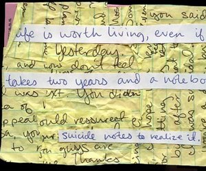 handwriting, life, and suicide image
