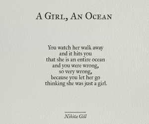 girl, ocean, and quote image