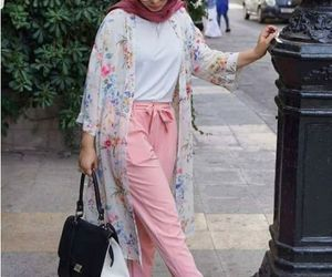 colors, flowers, and hijab image