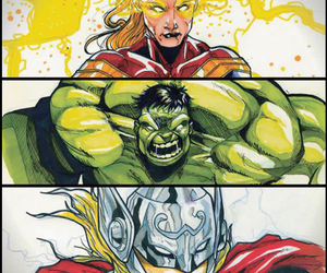 Avengers, fight, and Hulk image