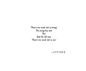 atticus, black and white, and quotes image