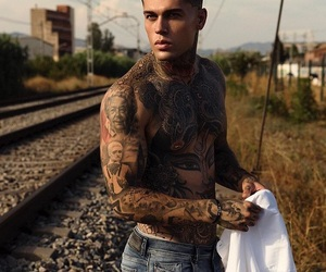 tattoo, model, and boys image