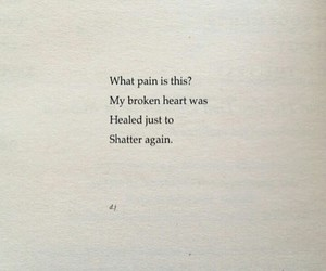 broken heart, pain, and poetry image