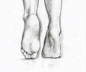 feet, drawing, and art image