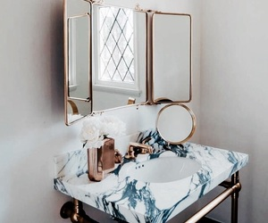 bathroom, interior, and marble image