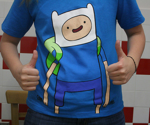 adventure time, cartoon, and blue image