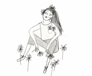 drawing, flowers, and cute image
