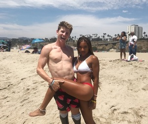 beach, black, and couples image