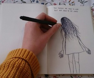 drawing, tumblr, and journal image