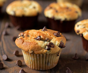 chocolate, muffins, and food image