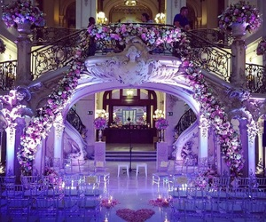 beautiful, ceremony, and flowers image