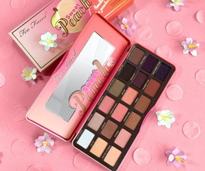 makeup, too faced, and peach image