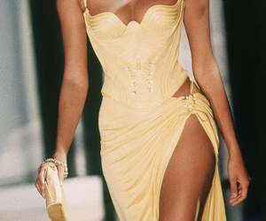 fashion, yellow, and Versace image