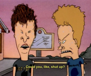 beavis and butthead, shut up, and grunge image
