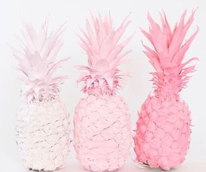 pineapple, pink, and aesthetic image