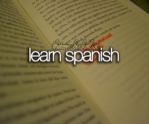 spanish, bucketlist, and learn image