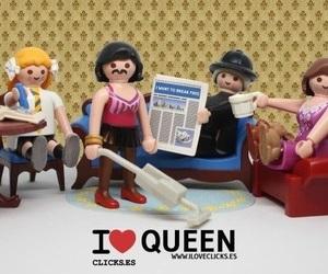 band, Freddie Mercury, and playmobil image
