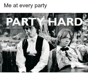 harry potter, party, and party hard image
