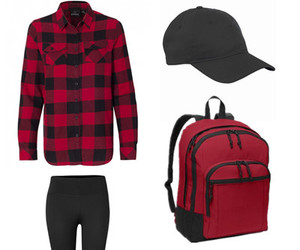 fall fashion, flannel, and high school image