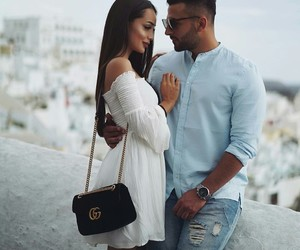 beauty, couple, and love image
