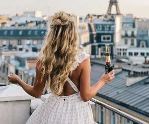 blonde, hair, and paris image