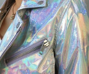 clothes, holographic, and jacket image
