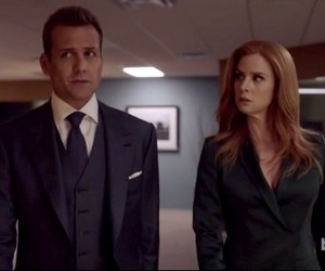 suits, gabriel macht, and sarah rafferty image