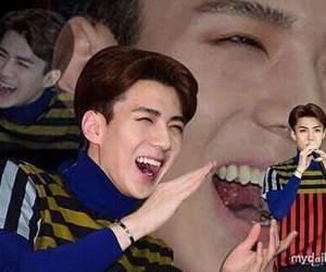 exo, sehun, and meme image