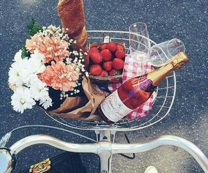 bike, shopping, and delicios image