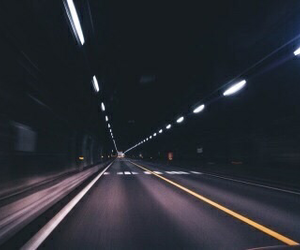 grunge, road, and dark image
