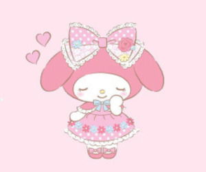 adorable, girly, and hello kitty image