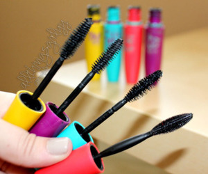 mascara, makeup, and girly image