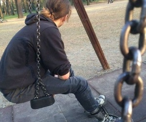 alone, boy, and dark image