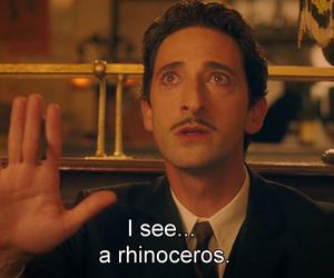 rhinoceros, woody allen, and midnight in paris image