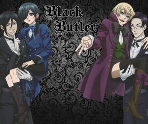 black butler, cloud, and kuroshitsuji image
