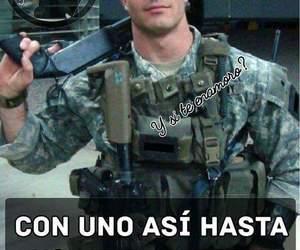 amor, meme, and militar image