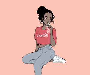coca cola and girl image