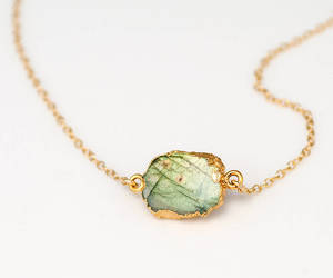 accessories, green, and boho necklace image
