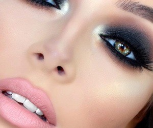 makeup, lips, and smokey image