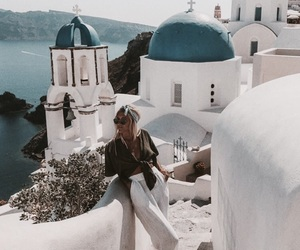 travel, fashion, and Greece image